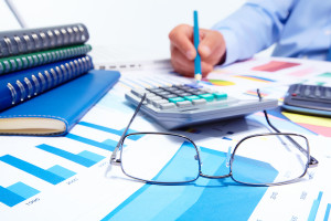 Businessman working with documents. Finance and accounting busin